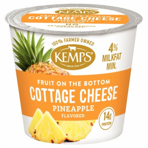 Kemps Fruit On The Bottom Pineapple Cottage Cheese Perspective: front