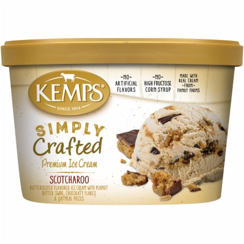 Kemps Simply Crafted Ice Cream - Scotcharoo Perspective: front