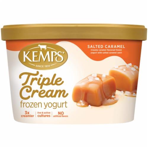 Kemps Triple Cream Salted Caramel Frozen Yogurt Perspective: front