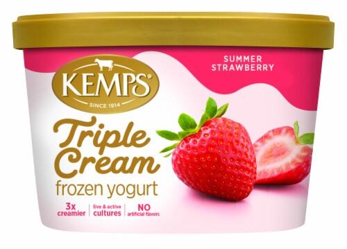 Kemps Triple Cream Summer Strawberry Frozen Yogurt Perspective: front
