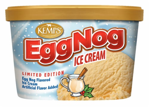Kemp Limited Edition Egg Nog Ice Cream Perspective: front