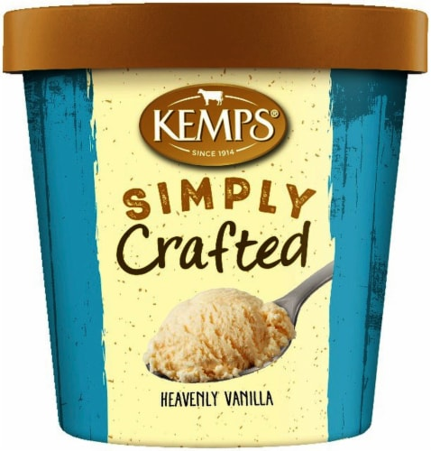 Kemps Simply Crafted Heavenly Vanilla Ice Cream Perspective: front