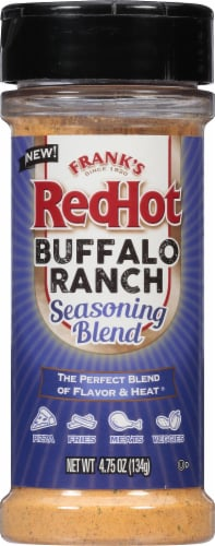 Frank's RedHot Buffalo Ranch Seasoning Blend Shaker Perspective: front
