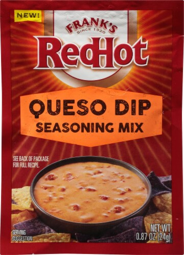Frank's RedHot Queso Dip Seasoning Mix Perspective: front