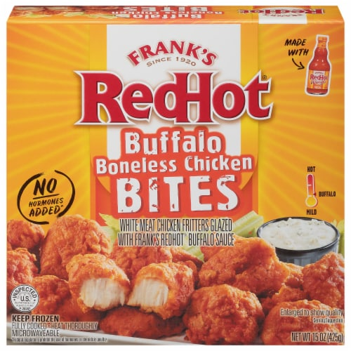 Frank's RedHot Buffalo Chicken Bites Perspective: front