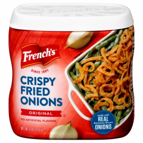 French's Original Crispy Fried Onions Perspective: front