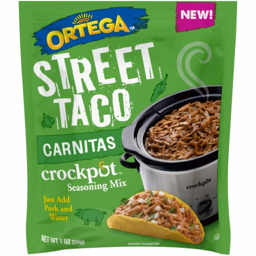 Ortega Carnitas Street Taco Seasoning Mix Perspective: front