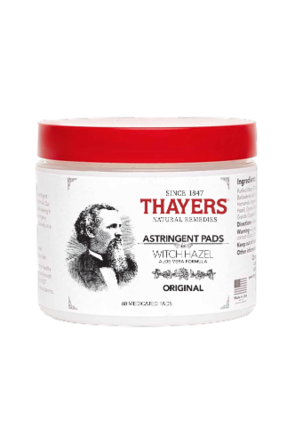 Thayers Original Witch Hazel Astringent Pads Perspective: front