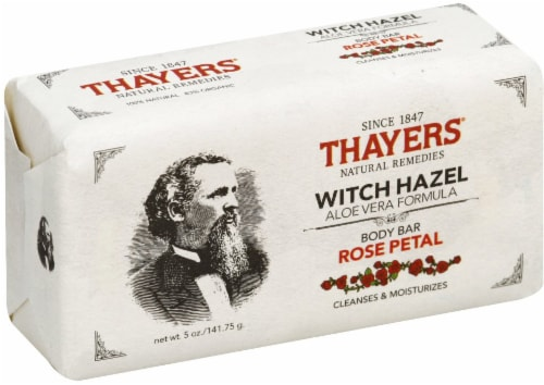 Thayers Rose Petal Witch Hazel Aloe Vera Formula Body Bar Perspective: front