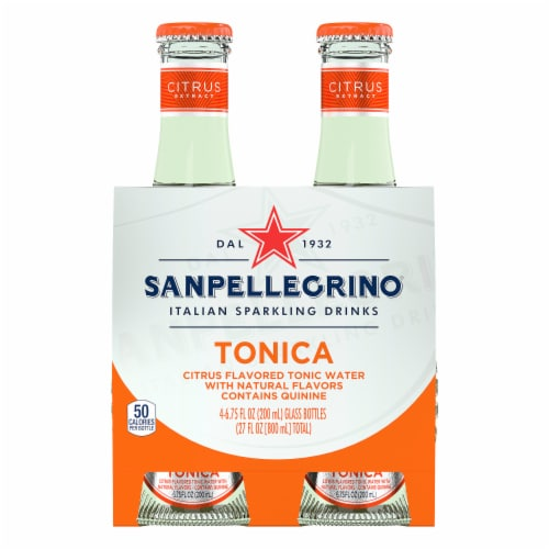 S. Pellegrino Tonica Citrus Flavored Sparkling Tonic Water Perspective: front
