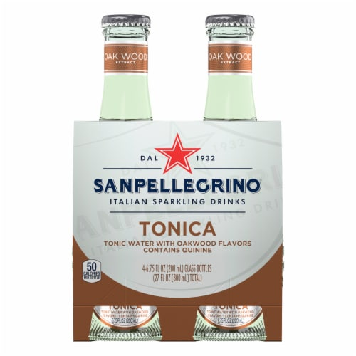 S. Pellegrino Tonica Oakwood Flavored Tonic Water Perspective: front