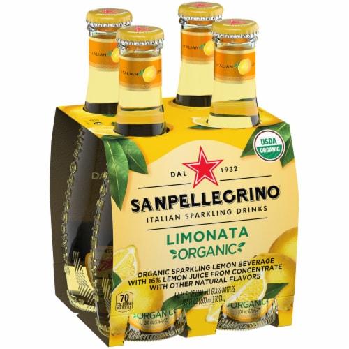 Sanpellegrino Organic Limonata Sparkling Lemon Beverage Perspective: front