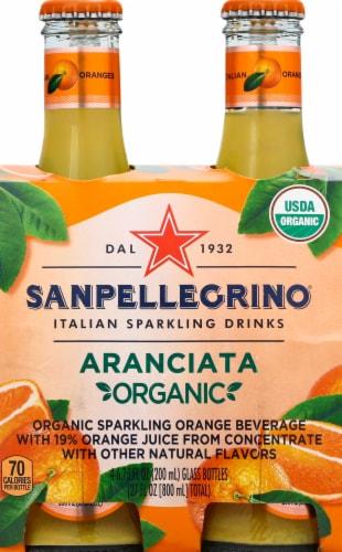 Sanpellegrino Organic Aranciata Sparkling Beverage Perspective: front
