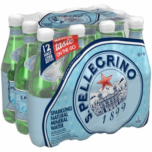Sanpellegrino Sparkling Natural Mineral Water 12 Count Perspective: front