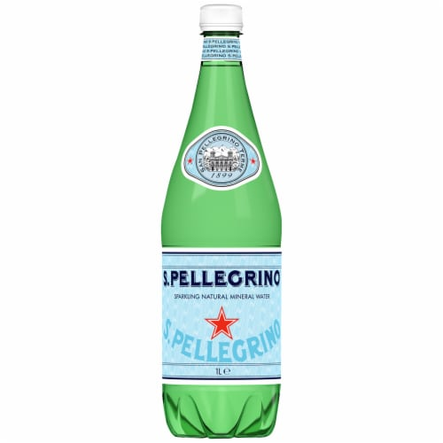S.Pellegrino Sparkling Natural Mineral Water Perspective: front