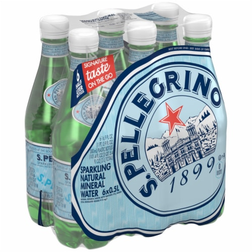 S. Pellegrino Sparkling Natural Mineral Water Perspective: front