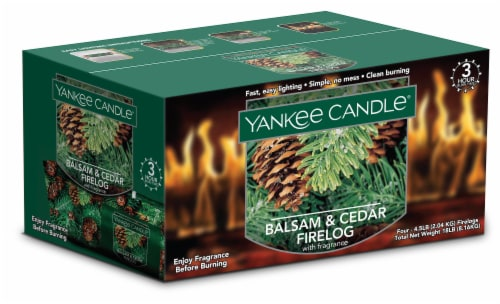 Yankee Candle® Balsam & Cedar Fragranced Firelogs Perspective: front
