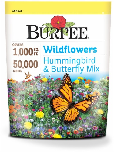 Burpee Wildflowers Hummingbird and Butterfly Mix Seeds Perspective: front