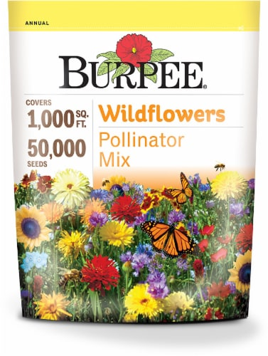 Burpee Wildflowers Pollinator Mix Seeds - Multi-Color Perspective: front