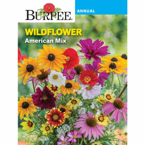 Burpee American Mix Wildflower Seeds Perspective: front