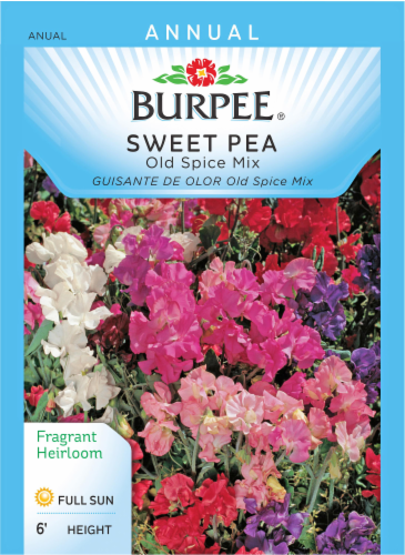 Burpee Old Spice Mix Sweet Pea Seeds Perspective: front