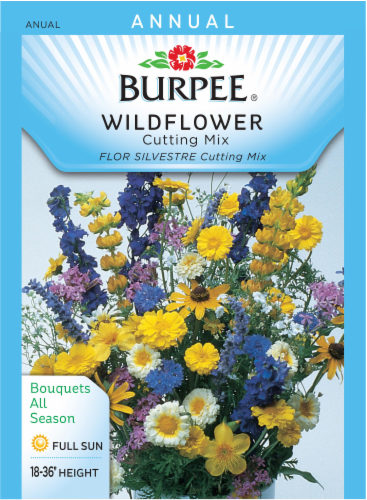 Burpee Cutting Mix Wildflower Seeds Perspective: front