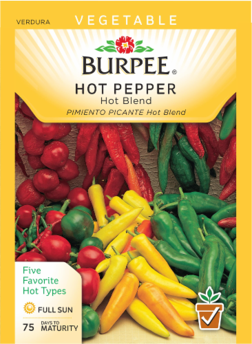 Burpee Hot Blend Hot Pepper Seeds Perspective: front