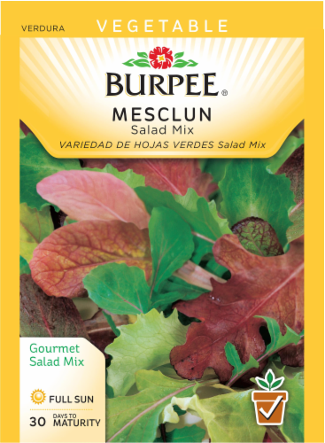 Burpee Salad Mix Mesclun Seeds Perspective: front