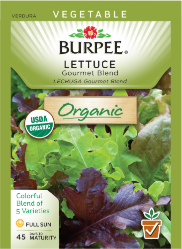 Burpee Organic Gourmet Blend Lettuce Seeds Perspective: front
