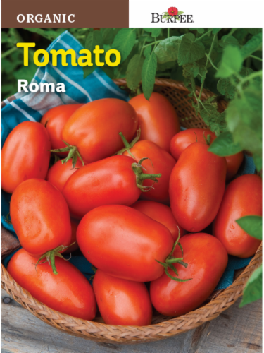 Burpee Organic Roma Tomato Seeds Perspective: front