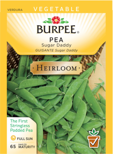 Burpee Sugar Daddy Heirloom Pea Seeds Perspective: front