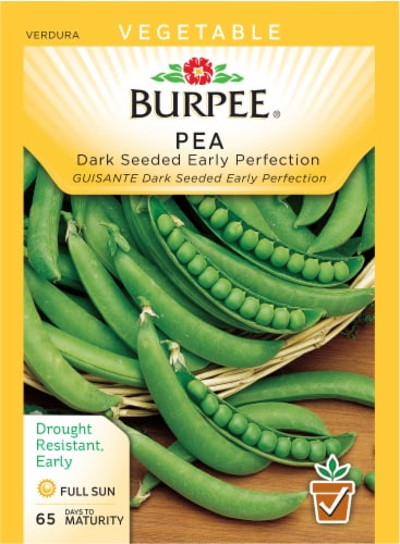 Burpee Dark Seeded Early Perfection Pea Seeds Perspective: front