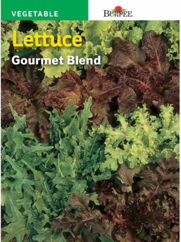Burpee Gourmet Blend Lettuce Seeds Perspective: front