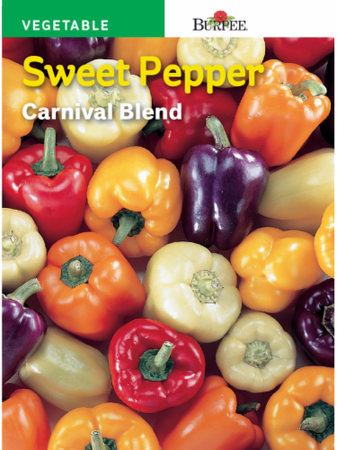 Burpee Carnival Blend Sweet Pepper Seeds - Multi-Color Perspective: front
