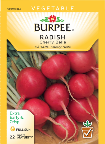 Burpee Cherry Belle Radish Seeds - Red Perspective: front