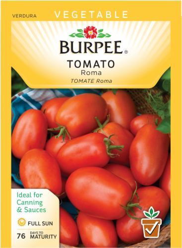 Burpee Roma Tomato Seeds Perspective: front