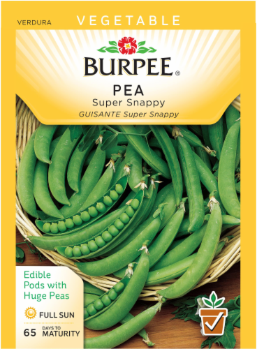 Burpee Super Snappy Pea Seeds Perspective: front