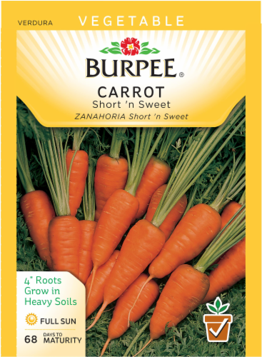Burpee Short n' Sweet Carrot Seeds Perspective: front