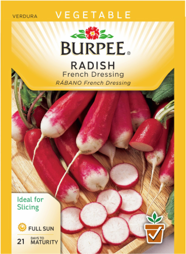 Burpee French Dressing Radish Seeds Perspective: front