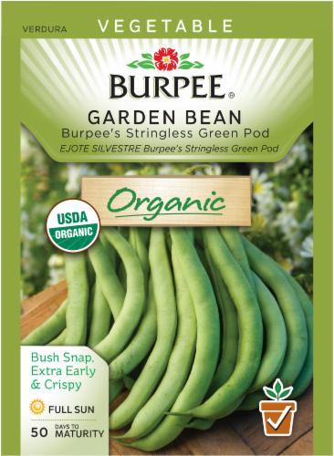 Burpee Organic Stringless Green Pod Garden Bean Seeds Perspective: front