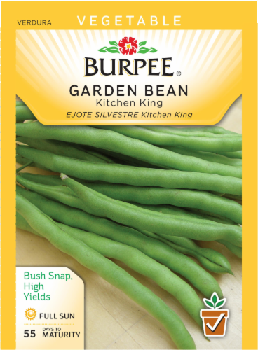Burpee Kitchen King Garden Bean Seeds Perspective: front