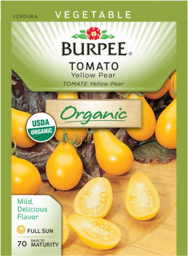 Burpee Organic Yellow Pear Tomato Seeds Perspective: front