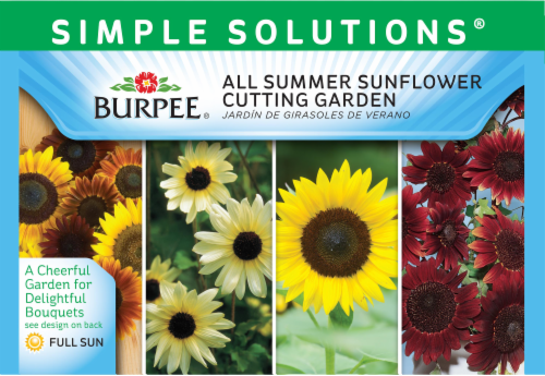 Burpee Simple Solutions All Summer Sunflower Cutting Garden Seeds Perspective: front