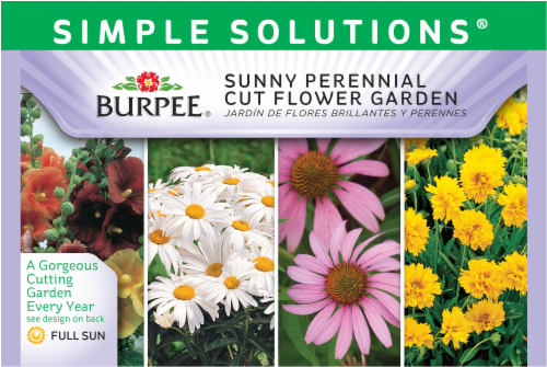 Burpee Simple Solutions Sunny Perennial Cut Flower Garden Seeds Perspective: front