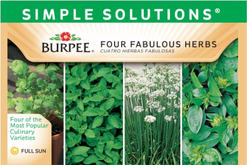 Burpee Simple Solutions Four Fabulous Herb Seeds Perspective: front