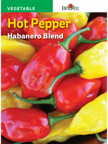 Burpee Habanero Blend Hot Pepper Seeds Perspective: front