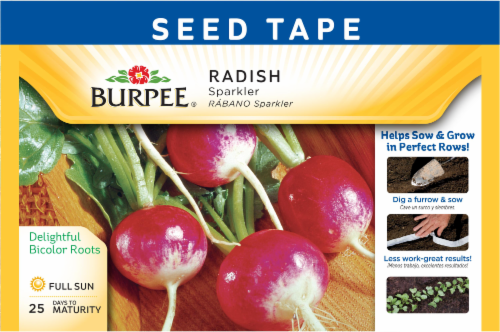 Burpee Sparkler Radish Seed Tape Perspective: front