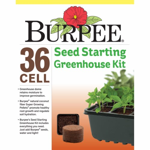 Burpee 36 Cell Seed Starting Greenhouse Kit Perspective: front