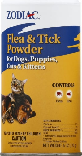 Zodiak Dogs & Cats Flea & Tick Powder Perspective: front