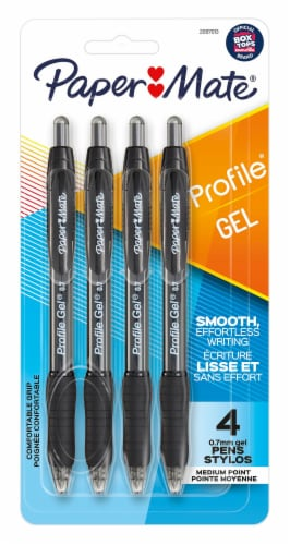 Paper Mate® Profile 0.7mm Gel Pens - Black Perspective: front